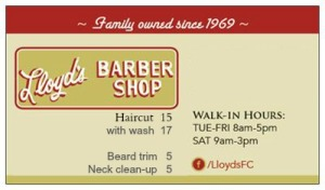 Press Release for Lloyds Barbershop of Fort Collins